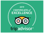2019 Trip advisor Certificate of Excellence 2019